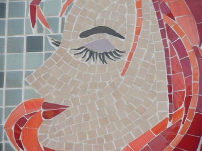 red,face,girl,mosaic