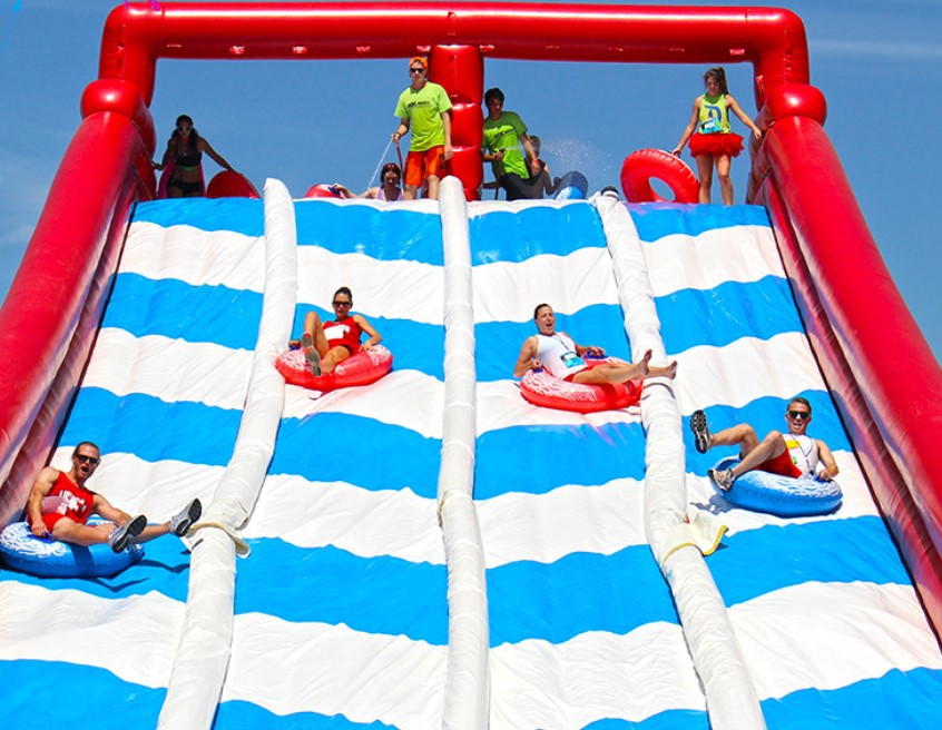 Monsterball amusements _ ROC RACE inflatable course