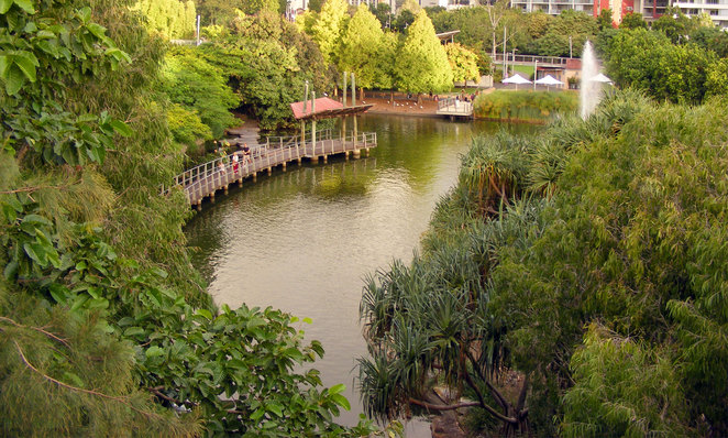 Roma Street Parklands is the most romantic park in Brisbane