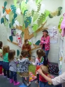 Story time at Enchanted Books