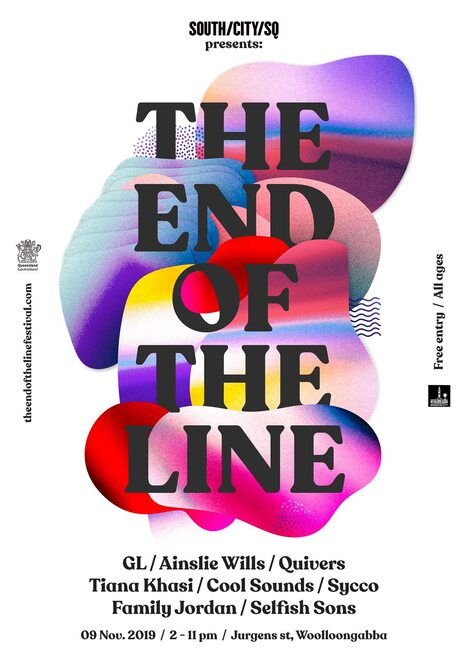 the end of the line festival 2019, community event, fun things to do, immerse events, wooloongabba free event, entertainment, music, performances, performing arts, family fun, jurgens street park, live music, gl, ainslie wills, quivers, tiana khasi, cool sounds, sycco, family jordan, selfish sons