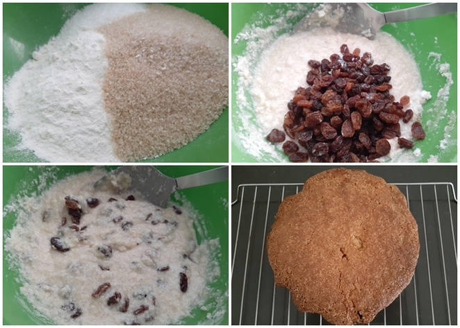 5 cup cake, coconut cake, recipe, cake recipes, desiccated coconut, sultanas, flour, sugar,