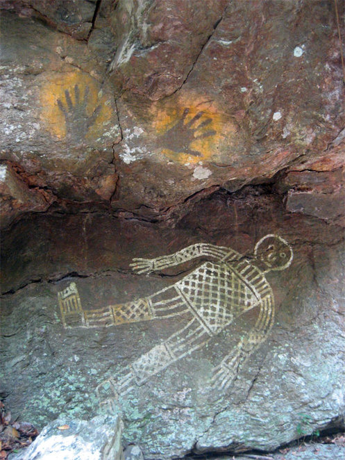 Aboriginal Art is one of the many attractions to hike to see at Mt Coot-Tha