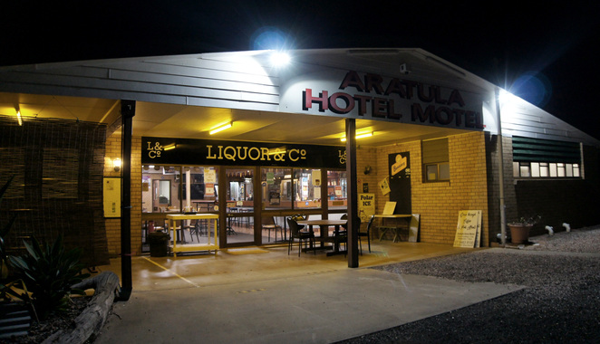 The Aratula Hotel is one of the few stops on Cunninghams Highway