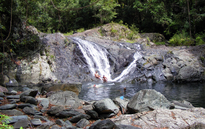 Along with the creek by the campgrounds you can hike to the Artists Cascades for a swim