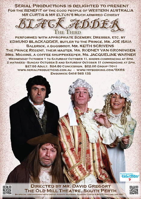 Blackadder, Serial Productions, Peter Clark, Rod Van Groningen