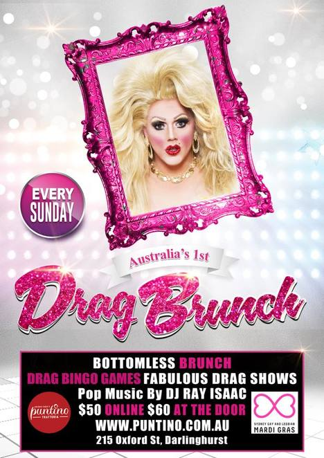 bottomless brunch, tranny bingo, puntino trattoria, darlinghurst restaurants
