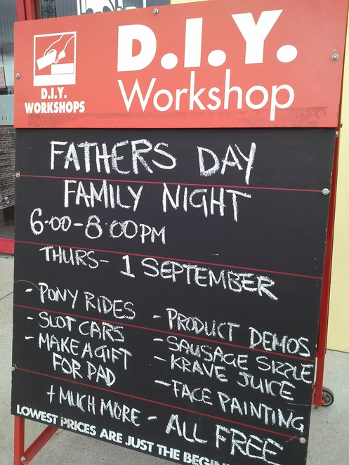 bunnings, canberra, fathers day, ACT, events,