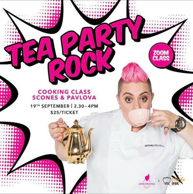 ChefsINK Masterclass, Afternoon Tea, Anna Polyviou, afternoon tea, raisin scones, cooking lesson, Q&A, learn to cook, master class in cooking, masterchef