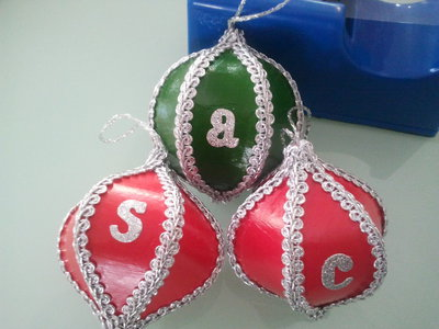 Christmas Baubles by Me.