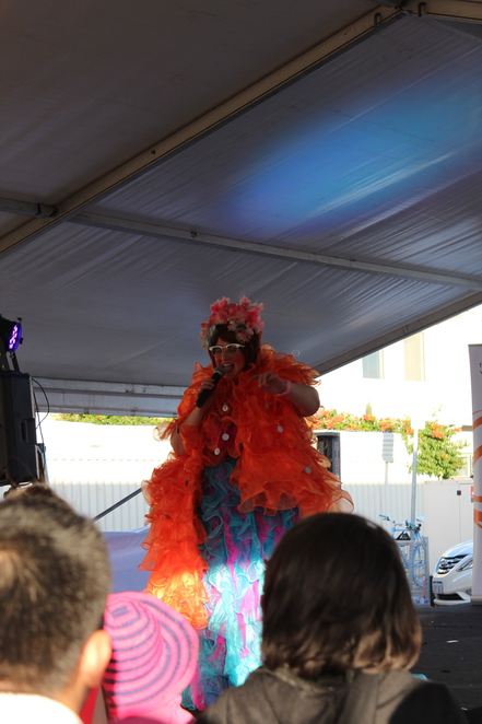 City Of Vincent Community Stage, crazy looking lady