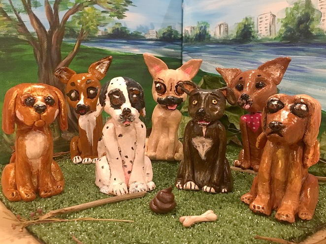 cork and chroma, clay your pet, south Brisbane, art class, dog, pet, Brisbane, painting, cat, art project, fun, activity, friends