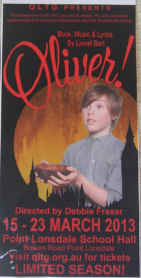 Queenscliffe Lighthouse Theatre Group Presents Oliver!
