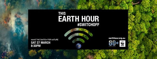 earth hour australia, switch off for earth hour 2021, make the switch for nature, environmental, sustainability, safe the planet, local heroes, community event, fun things to do, candlelight dinner, candlelight bath, make the switch