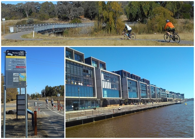 eastern loop, lake burley griffin, campbell, canberra, ACT, what do in campbell, bike riding, walks, bike paths,