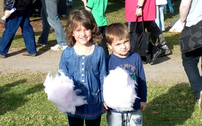 Fairy floss at the Medieval Fayre, Blacktown