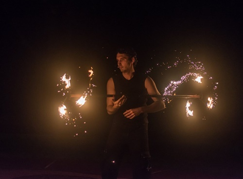 fire,twirling,display