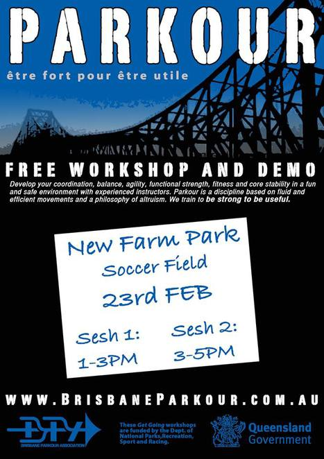 Free Brisbane Parkour Workshops New Farm Park