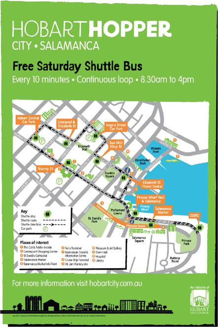free hobarthopper shuttle bus