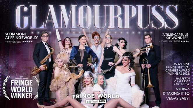 Glamourpuss, Perth Fringe World 2019, Cougar Morrison, Mark Turner, Perth Cabaret Collective