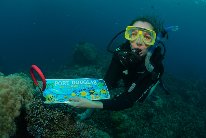 great barrier reef, gbr, diving, intro dive, introductory dive, reef dive, diver's den