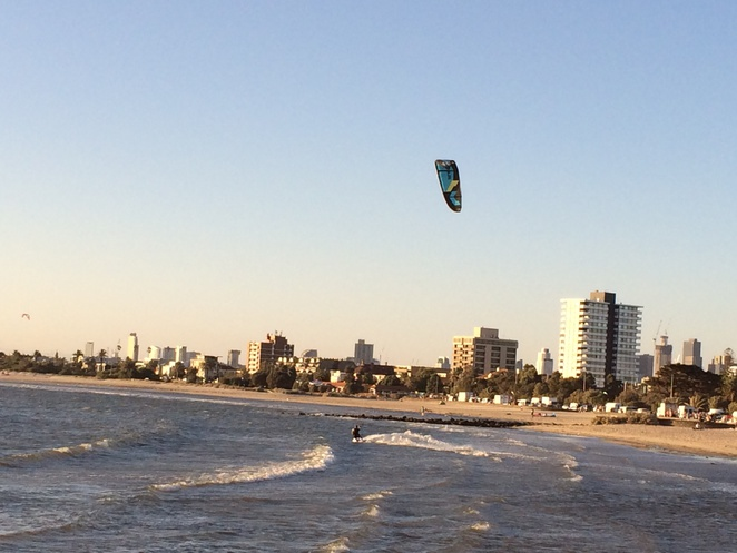 Kite Surfing @ St Kilda Beach