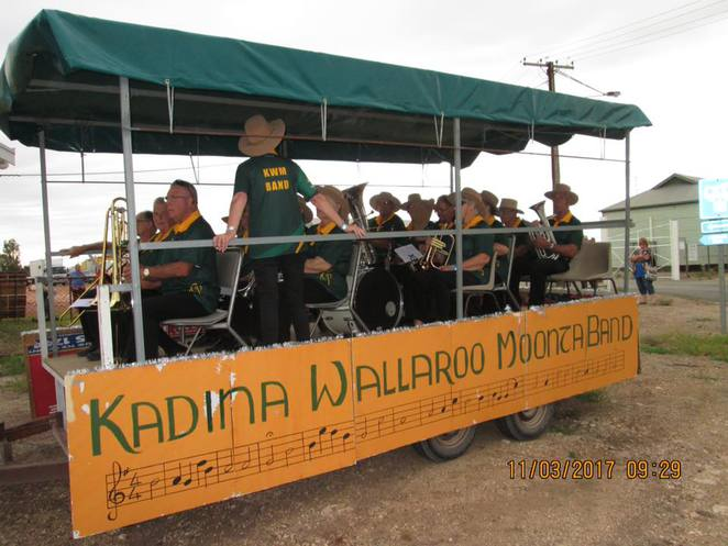 Kadina Wallaroo Moonta Brass Band, KWM Band, brass band, Copper Coast, musicians, big band, South Australia, band bus