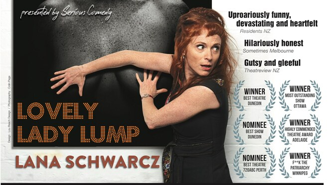 Lana Schwarcz: Lovely Lady Lump 2020, community event, fun things to do , serious comedy online event, fun things to do, community event, theatre maker, puppeteer, comedy, storytelling, humour, sarah ward, liz skitch, maribyrnong city council together apart, laughter is the best medicine