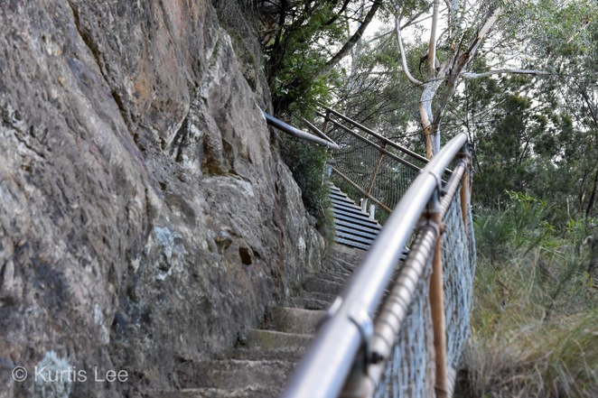 Looking Back Up the Steep Stairs