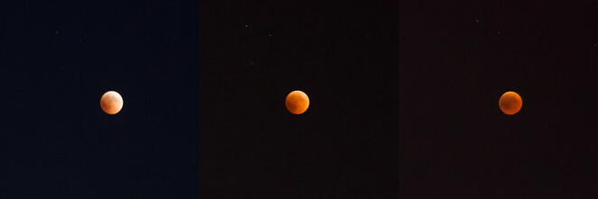 A blood moon is aptly name, as it transitions to a dark red colour during the eclipse