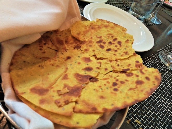 makki di roti at punjab grill restaurant, marina bay sands singapore