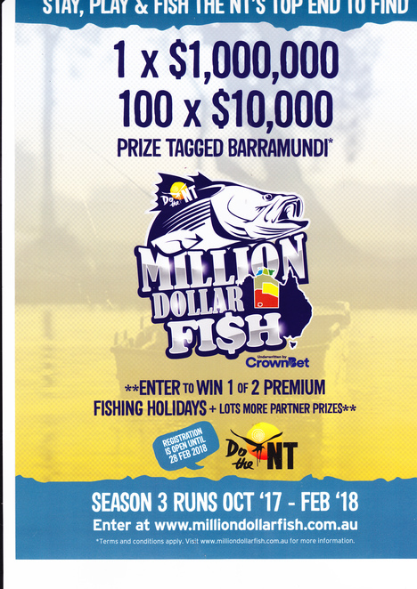 Million Dollar Fish, fishing, Darwin, fishing competition, NT Tourism