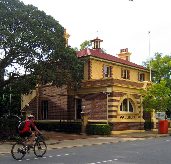 One of many historic buildings around Brisbane
