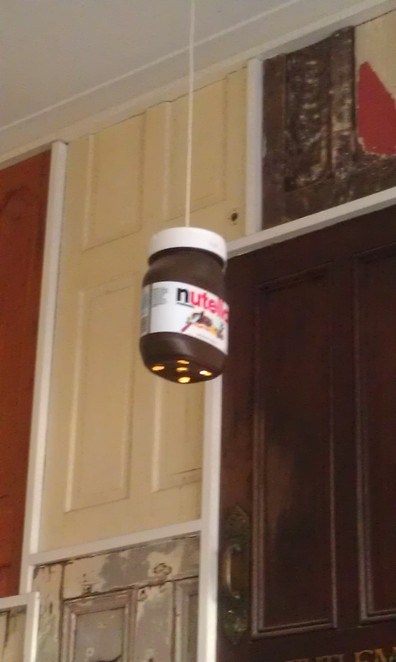 Nutella lights at Claire's Crepes Newtown