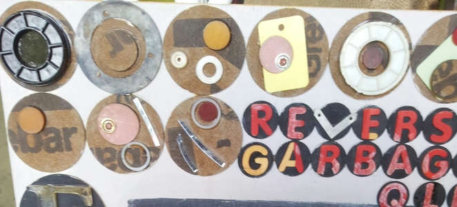 reverse garbage recycling eco art