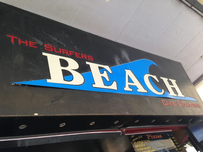 Surfers beach cafe