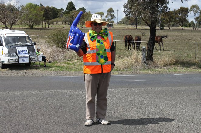 Volunteers, event, cycling, Queensland, country