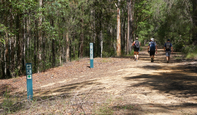 It is easy to stay on the track for the rail trail