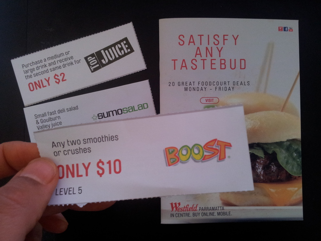 westfield coupons, coupon clipping, save money, food