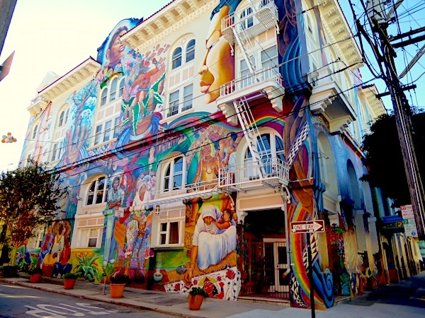 Women s building and Maestra Peace mural san francisco