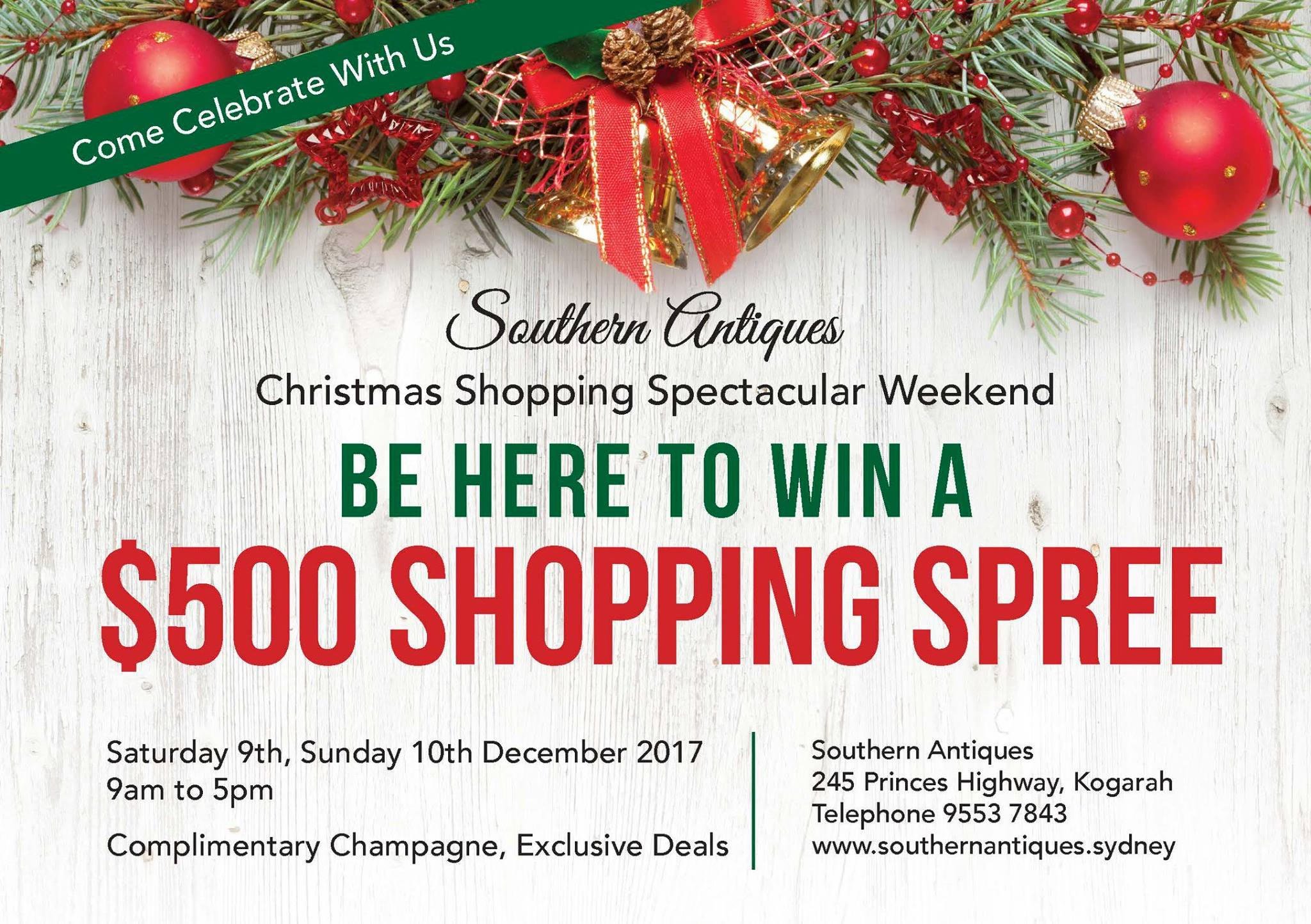 Christmas Shopping Spectacular Weekend - FREE Entry - Sydney