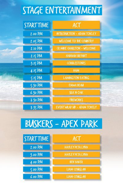 australia day, bribie island, music, celebration, fun, free, family