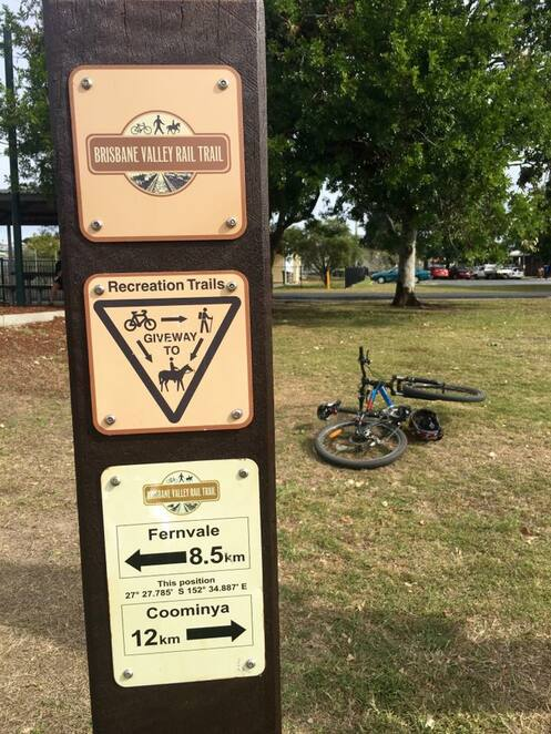 The Brisbane Valley Rail Trail from Fernvale to Lowood