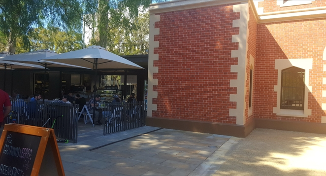 Cafe, Parramatta, history, outdoors