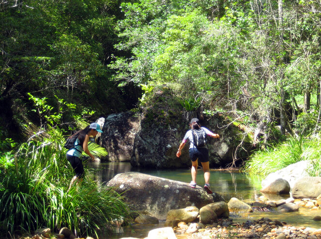 While the walk is easy there are a couple of creek crossings