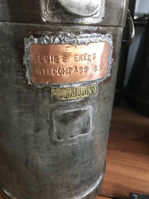 Elsie Ekers milk churn