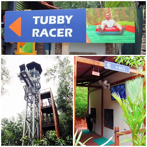 Escape Adventureplay Theme Park, penang attractions, obstacle course, tubby racer, atan's leap, a-maze