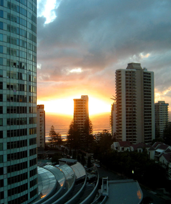Hotel view at Surfer's Paradise