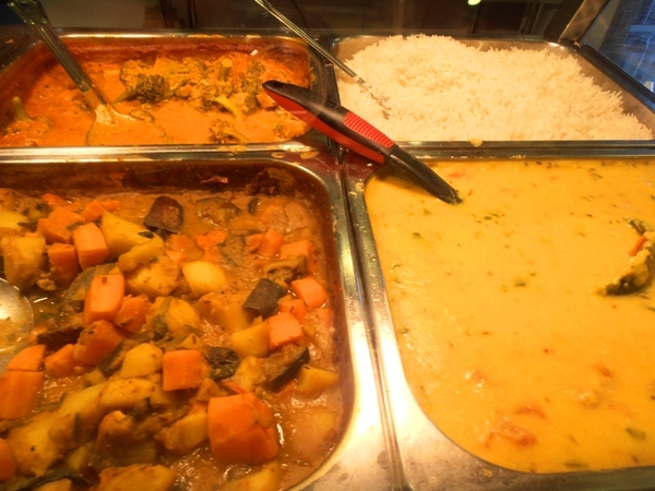 The cafe's buffet selection is wholesome, hearty and very yummy.