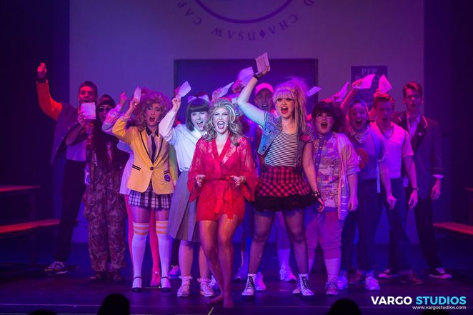 heathers the musical, Spotlight Theatre, Kevin Murphy, Laurence O'Keefe, Jamie Watt, Julie Whiting, Genevieve Tree, Tanèle Storm Graham, rebellion, revenge, murder, suicide, sex, bullying, gang rape